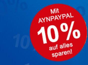 Allyouneed: 10 Prozent Paypal-Rabatt bis kommenden Mittwoch