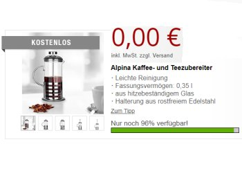 Druckerzubehoer.de: Kaffee- und Teezubereiter für 5,97 Euro frei Haus