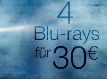 Amazon: Vier Blu-rays nach Wahl für 30 Euro frei Haus