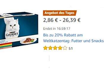 Weltkatzentag: 20 Prozent Rabatt bei Amazon auf Whiskas & Co.