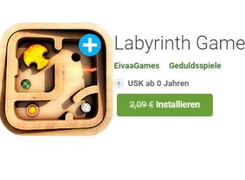Gratis: Labyrinth-Game bei Google Play zum Nulltarif statt 2,09 Euro
