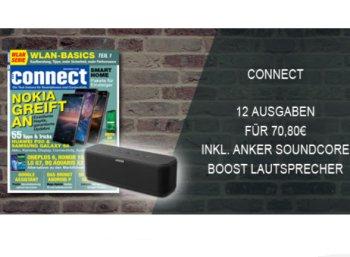 Gratis: Anker Soundcore Boost im Wert von 72,99 Euro zum Connect-Abo für 70,80 Euro