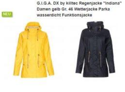 Anndora: Gut bewertete Regenjacke G.I.G.A. by Killtec für 49,95 Euro frei Haus