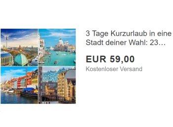 Ebay: A&O-Hotelgutschein für zwei Nächte zum Preis von 59 Euro
