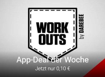 """Fitness-App: """"Pocket Workout Champions"""" für zehn Cent zu haben (Bild: Google Play)"""