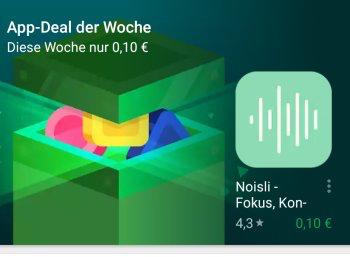 Google Play Store: Noisli ist App-Deal der Woche