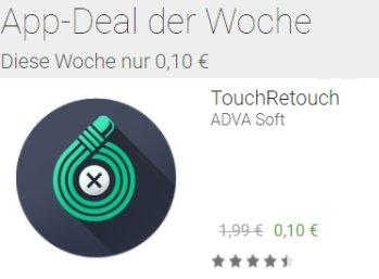 """App-Deal: Grafikprogramm """"TouchRetouch"""" für zehn Cent statt 1,99 Euro"""