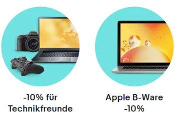 Ebay: B-Ware von Apple und anderen Herstellern nochmals 10 Prozent billiger im Angebot