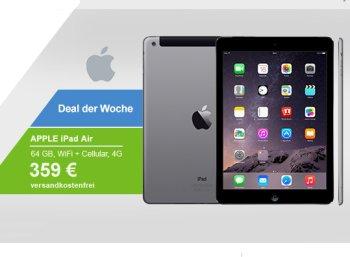Allyouneed: iPad Air Wi-Fi & 4G mit 64 GByte für 323,10 Euro