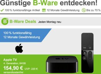 Allyouneed: Apple-TV der vierten Generation als B-Ware für 154,90 Euro