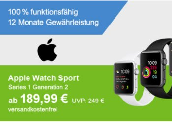 Allyouneed: Apple Watch Sport als B-Ware für 189 Euro