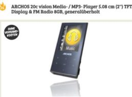 Generalüberholt: MP3-Player Archos 20C Vision mit 8 GByte für 13,90 Euro frei Haus