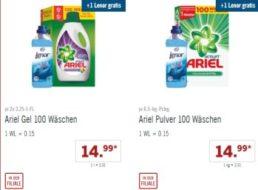 Gratis: Lenor-Weichspüler zu Ariel-Aktionspackungen bei Lidl