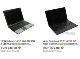 Asgoodasnew: Gebraucht-Notebooks mit SSDs und 10 Prozent Rabatt ab 252 Euro