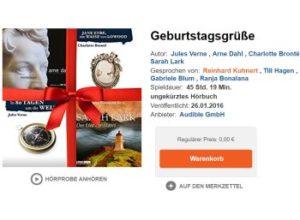 Audible: Vier Gratis-Hörbücher mit 47 Stunden Laufzeit