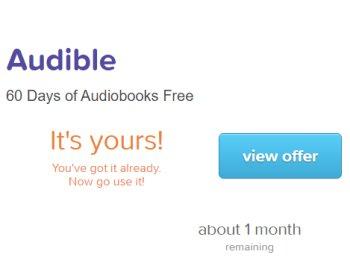 Audible: Zwei Monate gratis auch für Bestandskunden