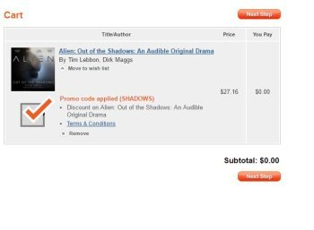 """Gratis: Alien-Hörbuch """"Out of the Shadows"""" für 0 Euro bei Audible"""