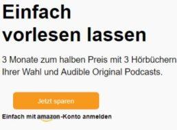 Audible: Drei Monate Hörbuch-Abo für je 4,95 statt 9,95 Euro