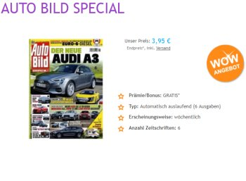 Exklusiv: 6 x Autobild für 3,95 Euro frei Haus, Abo endet automatisch