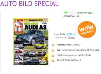 Auto Bild: 6 Ausgaben mit automatischem Abo-Ende für 3,95 Euro