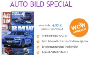"""""""Auto Bild"""": 6 Ausgaben mit automatischem Abo-Ende für 4,95 Euro"""