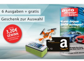 """Gratis: 6 Ausgaben """"auto motor sport"""" mit effektiv 3,20 Euro Gewinn"""