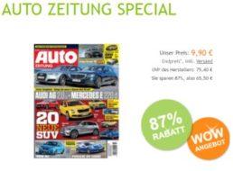Auto-Zeitung: Jahresabo zum Pauschalpreis von 9,90 Euro frei Haus