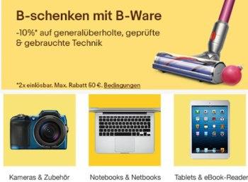 Ebay: B-Ware-Notebooks mit Gutschein nochmals zehn Prozent günstiger