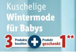 Lidl: Vier Winter-Modeartikel für Babys zum Preis von dreien