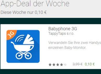 """Google Play: App """"Babyphone 3G"""" jetzt für 10 Cent statt 3,99 Euro"""