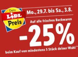 Lidl: 25 Prozent Rabatt auf frische Backwaren bis Samstag