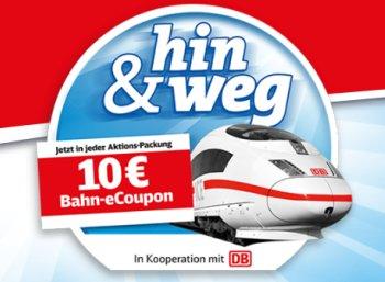 Bahn: Gutschein über 10 Euro in Aktionspackungen von Ferrero