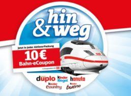 Gratis: Bahn-Coupon über 10 Euro in Aktionspackungen von Ferrero