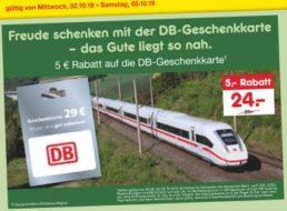 Netto: DB-Geschenkekarte für 24 statt 29 Euro
