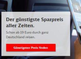 Bahn: Quer durch Deutschland ab 14,25 Euro mit dem Sparpreis