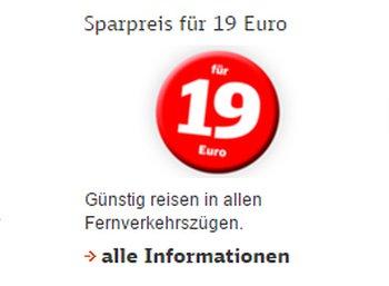 Deutsche Bahn: Mit dem Sparpreis für 19 Euro quer durch Deutschland