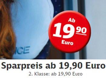 Deutsche Bahn: Neue Sparpreis-Tickets ab 19,90 Euro deutschlandweit