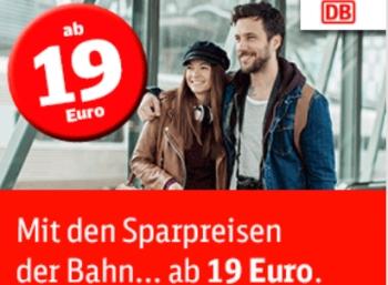 Bahn: Eine Million neue Sparpreis-Tickets für 19 bis 24 Euro