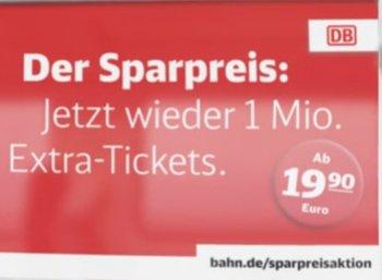 Bahn: Neue Sparpreis-Tickets ab 19,90 Euro deutschlandweit