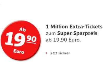 Deutsche Bahn: Eine Million neue Sparpreis-Tickets ab 14,92 Euro
