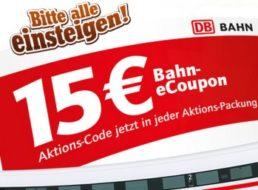 Gratis: Bahn-Gutschein über 15 Euro via Toffifee