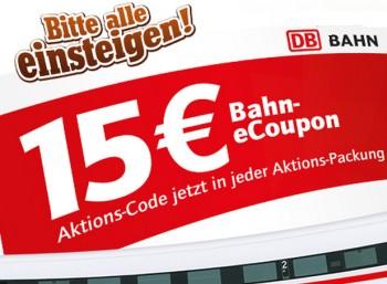 Bahn-Gutschein über 15 Euro via Toffifee