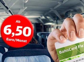 Wieder da: BahnCard Flex mit monatlicher Kündigung ab 6,50 Euro