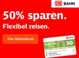 BahnCard 50: Rabatt von 25 Prozent auf Sparpreise ab dem 1. August