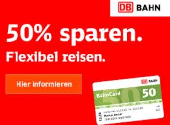 BahnCard 50: 25 Prozent Rabatt auf Fernreisen ab dem 1. August