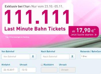 l'tur: Bahntickets ab 17,90 Euro plus zwei Euro Gebühr