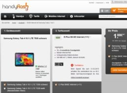 Base: Mobile Flat inklusive Galaxy Tab 4 10.1 LTE T535 für 265 Euro