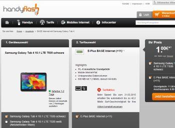 Base-Internet-Flat mit Galaxy Tab