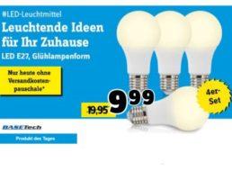 Conrad: Viererset LED-Birnen mit je zehn Watt für 9,99 Euro frei Haus
