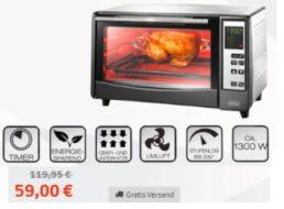 Völkner: Infrarot-Backofen mit Pizzastein für 59 Euro frei Haus